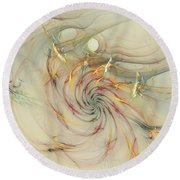 Marble Spiral Colors Round Beach Towel