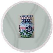 Marble Vase Round Beach Towel by Jamie Frier