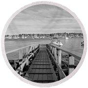 Marblehead Massachusetts Dock Round Beach Towel