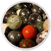 Marbles Round Beach Towel