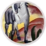 Marc: Grey Horse, 1911 Round Beach Towel
