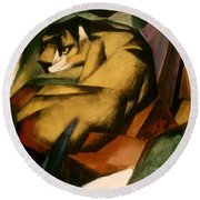Marc: The Tiger, 1912 Round Beach Towel