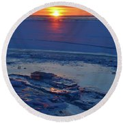 March 16-2017 Sunrise Two  Round Beach Towel