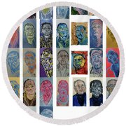 March Bachmors Dailyselfportrait Round Beach Towel