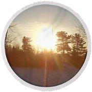 March Sunrise Circle Round Beach Towel