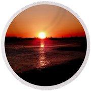 March Sunset Round Beach Towel
