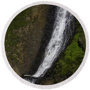 March Waterfall Round Beach Towel
