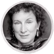 Margaret Atwood Round Beach Towel