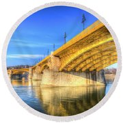 Margaret Bridge Budapest Round Beach Towel