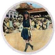Margaret Gorman, 1921 Round Beach Towel