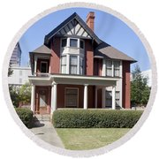 Margaret Mitchell House In Atlanta Georgia Round Beach Towel