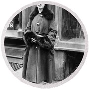 Margaret Sanger Round Beach Towel