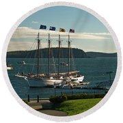Margaret Todd - Bar Harbor Icon Round Beach Towel