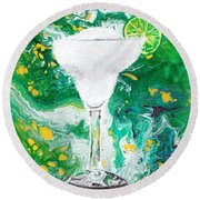 Margarita Round Beach Towel