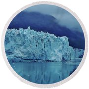 Margerie Glacier Beauty Round Beach Towel