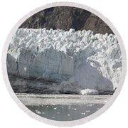 Margerie Glacier Round Beach Towel