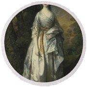 Maria Lady Eardley, 1766 Round Beach Towel