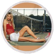 Maria Sharapova Round Beach Towel