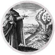 Maria The Jewess, First True Alchemist Round Beach Towel