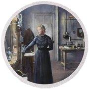 Marie Curie (1867-1934) Round Beach Towel