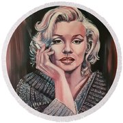 Marilyn Round Beach Towel