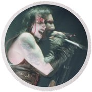 Marilyn Manson Round Beach Towel