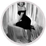 Marilyn Monroe Publicity Shot The Asphalt Jungle Round Beach Towel
