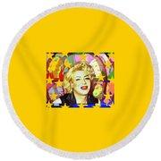 Marilyn Superstar Pop Round Beach Towel