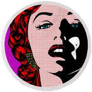 Marilyn02-2 Round Beach Towel