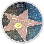Marilyn's Star Round Beach Towel