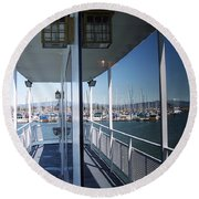 Marina Mirror Round Beach Towel