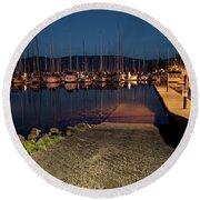 Marina Nightlights Round Beach Towel