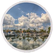 Marina Reflections Round Beach Towel