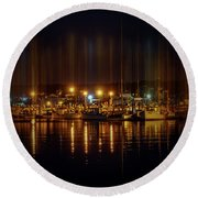 Marine At Night Round Beach Towel