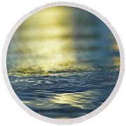 Marine Blues Round Beach Towel