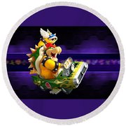 Mario Kart Wii Round Beach Towel