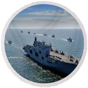 Maritime Forces From 17 Nations Round Beach Towel