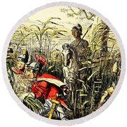 Marius Discovered In The Marshes At Minturn Round Beach Towel