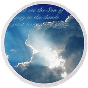 Mark 13 26 Round Beach Towel