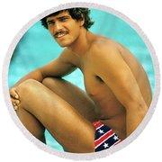 Mark Spitz, Olympic Champion Round Beach Towel