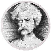 Mark Twain In His Own Words Round Beach Towel