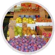 Market At Bensonhurst Brooklyn Ny 10 Round Beach Towel