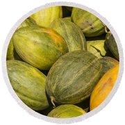 Market Melons Round Beach Towel