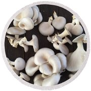 Market Mushrooms Round Beach Towel