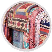 Marketplace Colors Round Beach Towel