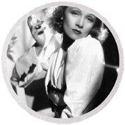Marlene Dietrich Round Beach Towel
