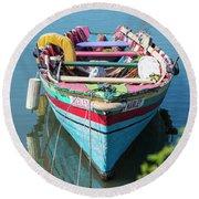 Marley Rowboat Rodney Bay Saint Lucia Round Beach Towel