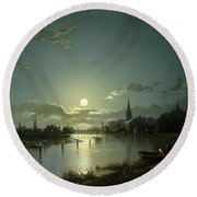Marlow On Thames Round Beach Towel