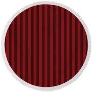 Maroon Red Striped Pattern Design Round Beach Towel