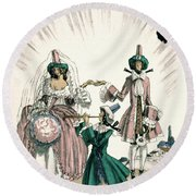 Marriage Of Candide Round Beach Towel